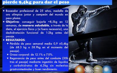 ARTÍCULO LIBRE ACCESO: Estrategias de un boxeador profesional para perder 9kg en 12 semanas.