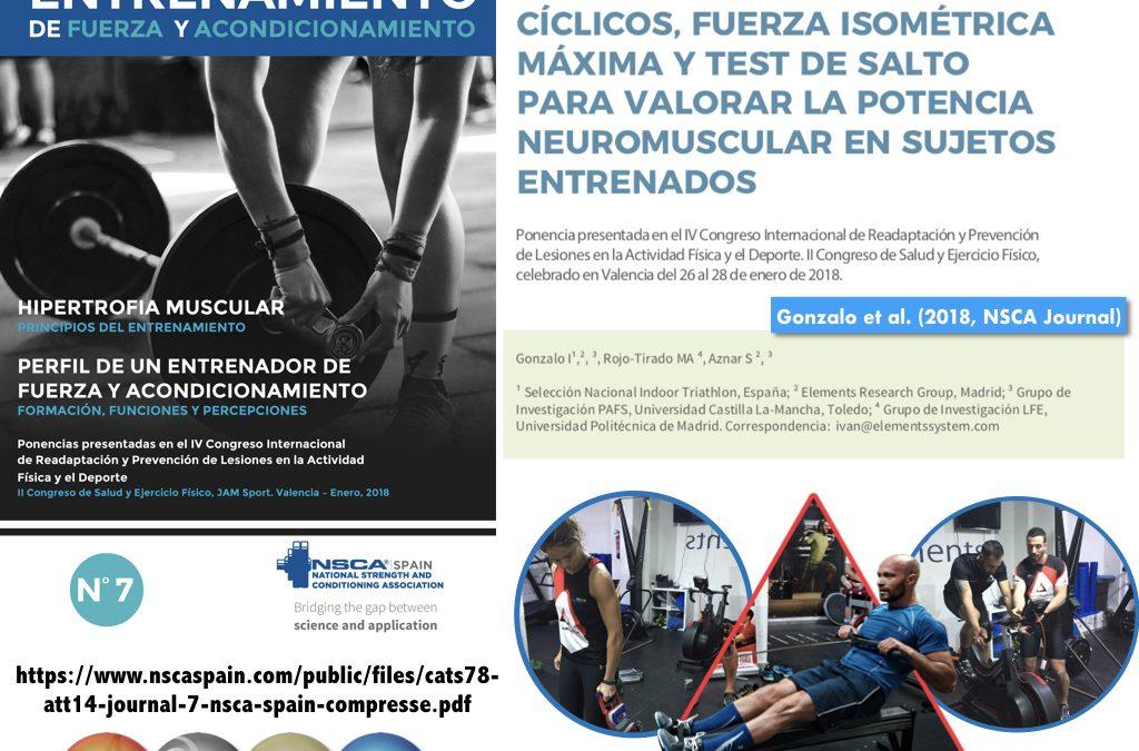 ELEMENTS  EN LA REVISTA NSCA SPAIN: COMPARATIVA TEST DE FUERZA, P MÁX Y SALTO