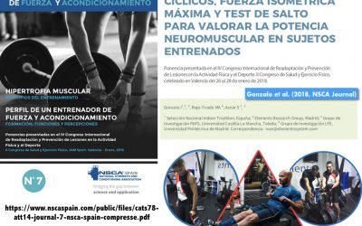 ELEMENTS  EN LA REVISTA NSCA SPAIN: COMPARATIVA TEST DE FUERZA, P MÁX Y SALTO