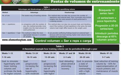 HIPERTROFIA: PAUTAS DE VOLUMEN DE ENTRENAMIENTO POR GRUPO MUSCULAR