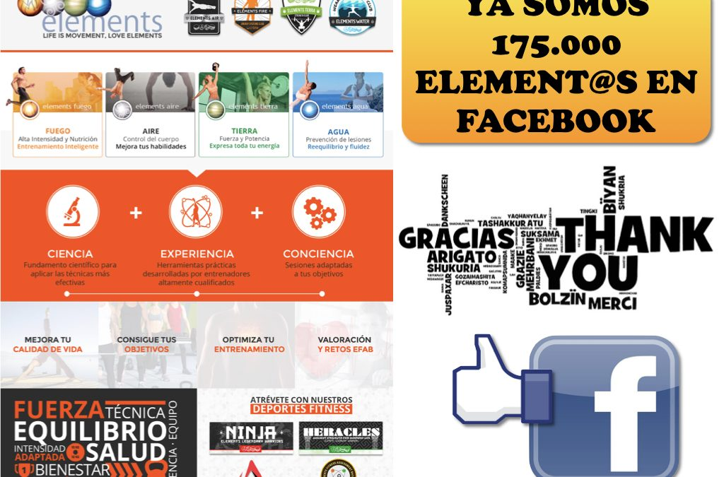 YA SOMOS 175.000 ELEMENT@S EN FACEBOOK