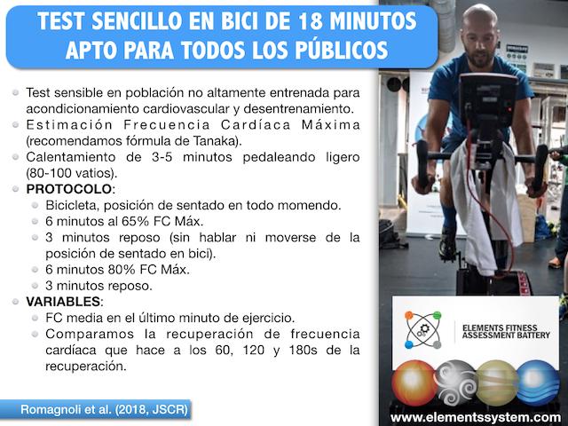 TEST DE VALORACIÓN EN BICICLETA APTO PARA TODOS LOS PÚBLICOS