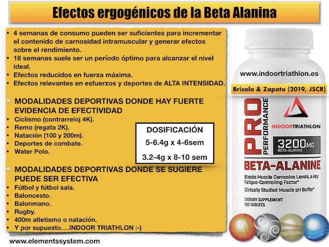 EFECTOS ERGOGÉNICOS DE LA BETA ALANINA