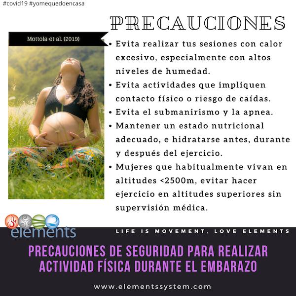 EJERCICIO DURANTE EL EMBARAZO: PRECAUCIONES BÁSICAS